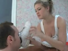 Bratty Waitress - Feet in Pantyhose