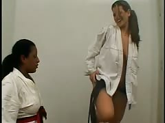 Female Jiu Jitsu facesitting loser