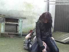 Bitchy Boss Leather Beating