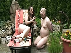Goddess makes Levi a Cigaruette Smoking Sissy