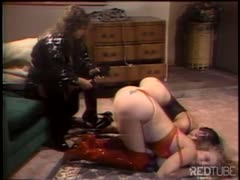 Controlling both her feisty slave girls