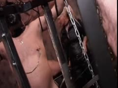 Mature femdom cage slave property