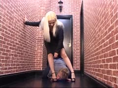 Dame Finds Her Foot Slave in Alley