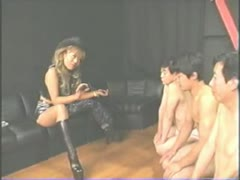 Sexy Asian MILF Dominates The Group Of Asian Guys