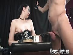Tormented and humiliated slave cum hard