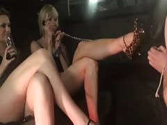 CFNM slave worshiping shoes and feet