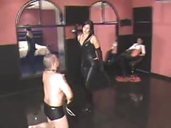 Mistress Diosa and Krystall whipping