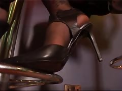 Cute face blonde shoes worshiping domination POV
