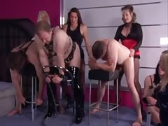 Femdom pegging party