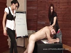 Teen femdom students went wild in the classroom