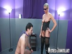 BDSM slave training from a filthy blonde MILF