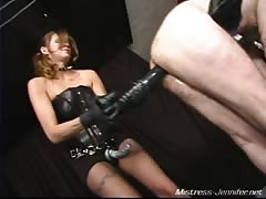 Slave screaming for his ass pegged