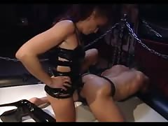 Guy get's straponed by his horny mistress