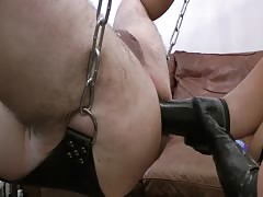 Pegging husband in the sling