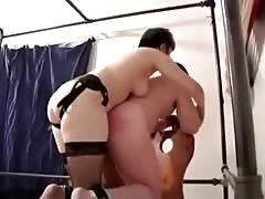 Sub man get's nailed by a mistress with strapon