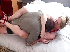 Angry wife mixed wrestling punishment