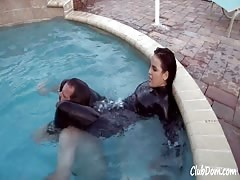 Pervert photographer punished in the pool