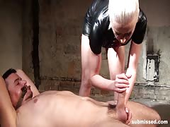 Blonde mistress controlled orgasm