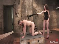 She fucked hard after she tortures him