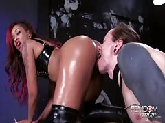 Pussy and ass worship in the dungeon